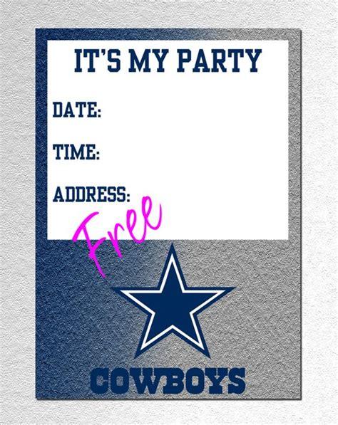 Dallas Cowboy Invitation Free Pdf Download Adam S 11th Birthday Pinterest Football Dallas Cowboys Invitation Template