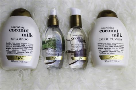 ogx good hair product for african american hair product review ogx coconut milk hair range