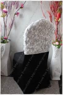 white 3d big rosette top chair cap chair chair
