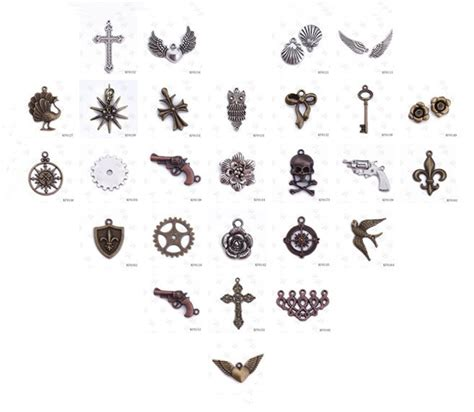 Origami Owl Charms Wholesale - 10 pcs in wholesale diy jewelry vintage clock charms