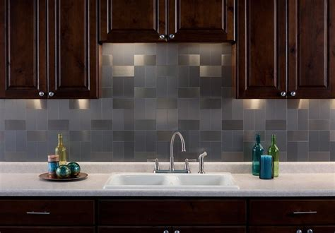 Aspect Backsplash Tiles General Diy Discussions Diy Aspect Stainless Steel Backsplash