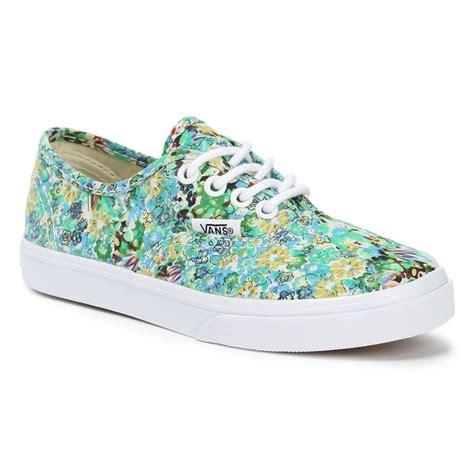 Diskon Vans Authentic Lo Pro Ditsy Floral Pool Green Original vans authentic lo pro shoes evo