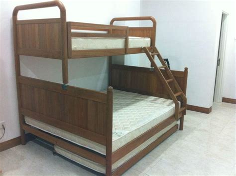 Bunk Beds Singapore 4 In 1 Size Wooden Bunk Bed With Separate Rollaway Singapore Classifieds