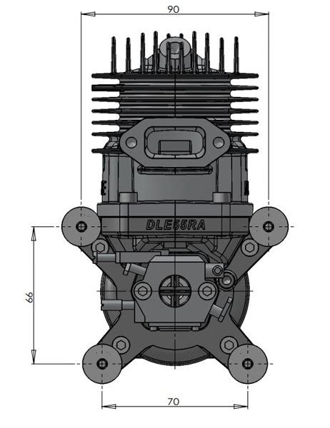 Dle 55ra Engine dle engines moteur essence dle 55ra