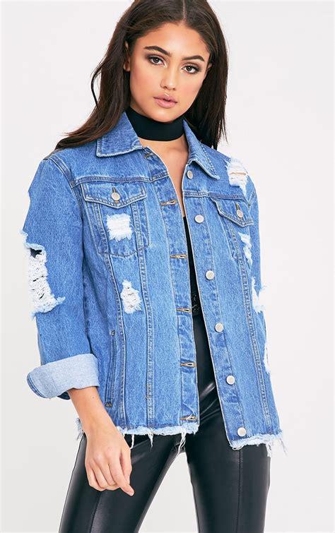 light blue distressed denim jacket women s coats and jackets winter coats