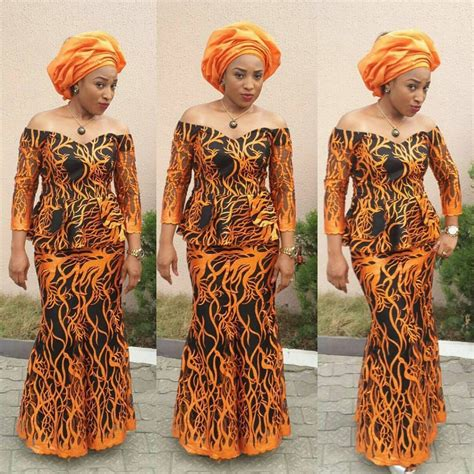 photo of nigeria lace skirt and blouse creative aso ebi skirt and blouse style couture