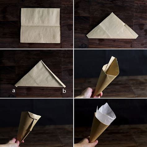 How To Fold Paper Cones - how to fold a brown paper cone crafts for church