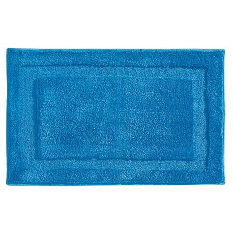 interdesign bath rugs interdesign microfiber spa bathroom accent rug 34 x 21 azure