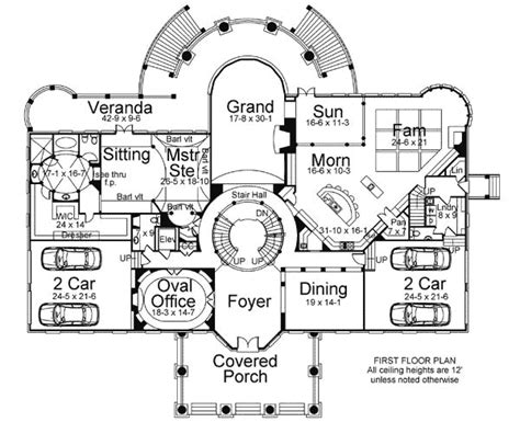 Floor Plan Of A House With Dimensions Statement Circular Staircase 12201jl Architectural