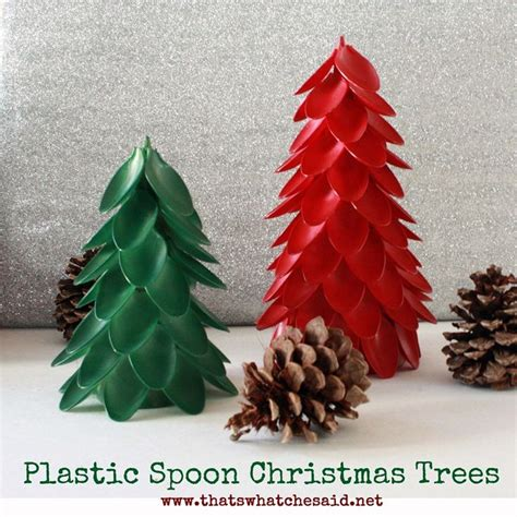 plastic spoon christmas trees