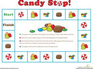 printable board game generator candy stop game kindergarten worksheets and file folder