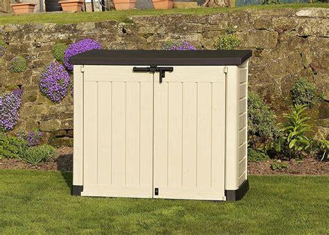 plastic garden storage boxes sheds  cupboards