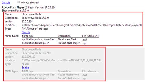 find flash player run mbo in chrome