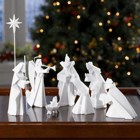 porcelain origami nativity set kerststal origami kerststalletjes origami