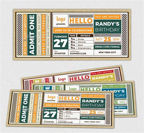 design tickets template 25 awesome ticket invitation design templates web