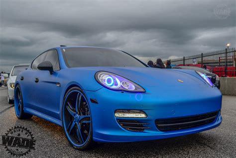 porsche panamera blue matte blue porsche panamera on 24 quot forgiatos www
