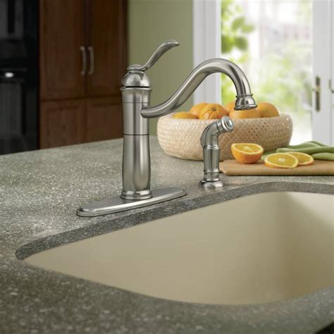 Moen Walden Kitchen Faucet Moen 87427msrs Walden Single Handle High Arc Kitchen Faucet With Side Spray Spot Resist