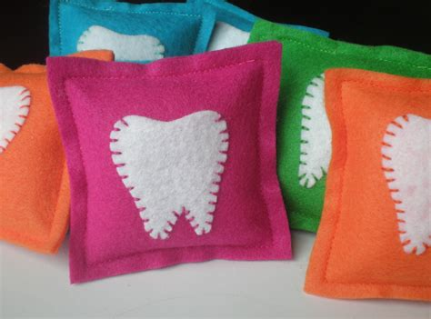 Felt Tooth Pillow felt tooth pillows by littlebirdieandme on etsy