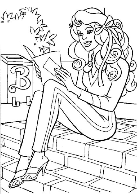 Kids-n-fun.com | 23 coloring pages of Barbie