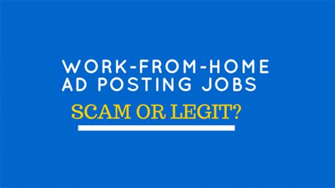 Work From Home Online Jobs Frauds - work from home ad posting job review legit work from home job or scam singlemoms