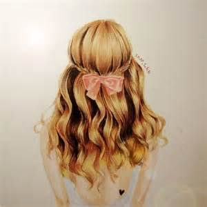 pencil drawing of hair styles of pink bow hairstyles i like pinterest coloring