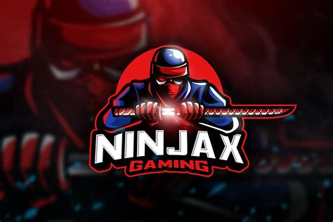 ninjax gaming mascot esport logo logo templates