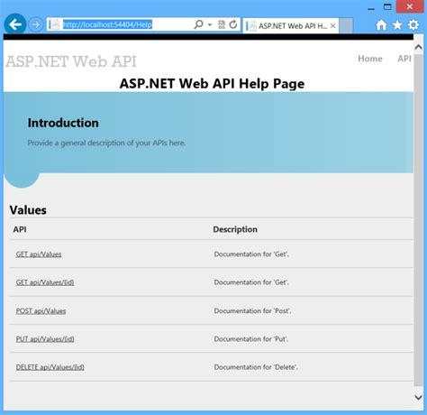 creating help pages for asp net web api microsoft docs