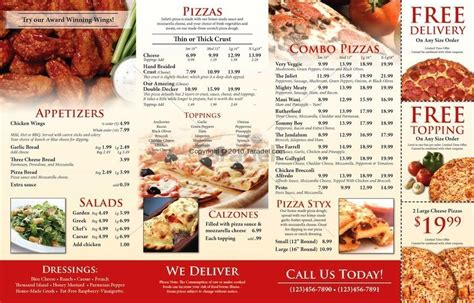 pizza menu design template 28 images 25 pizza menu