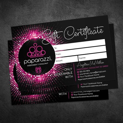 Best 25 Gift Certificates Ideas On Pinterest Contests For Money Create A Gift Certificate Paparazzi Gift Certificate Template