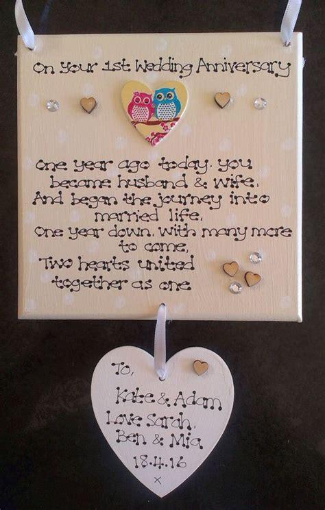 1st wedding anniversary gifts uk 15 best engagement wedding anniversaries gift plaques