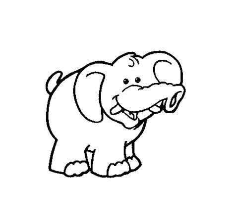 imagenes para colorear elefante dibujo de elefante 3 para colorear dibujos net