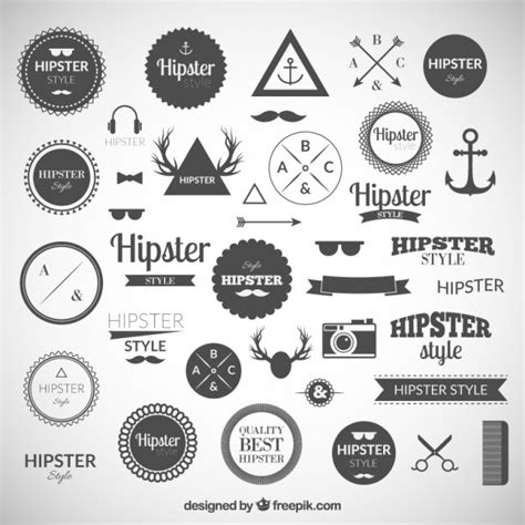 hipster design elements vector hipster logos collection vector free download
