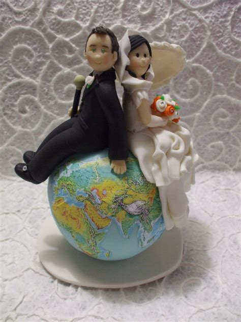 Hochzeitstorte Reisen by Personalized And Groom Themed Travel Wedding Cake