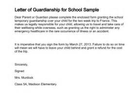 Consent Letter For Guardian letter of guardianship for school sample
