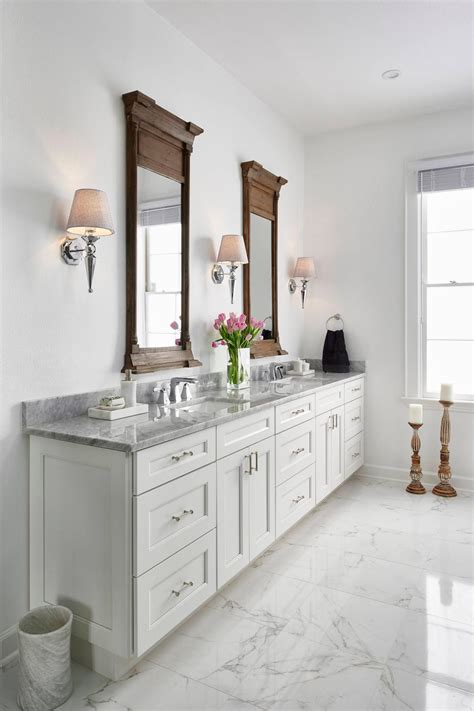 master bathroom white this traditional white master bathroom features white