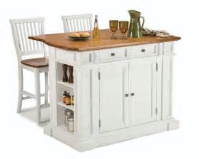Island Kitchen Stools by Compact Set Home Styles Kitchen Island Amp Two Bar Stools