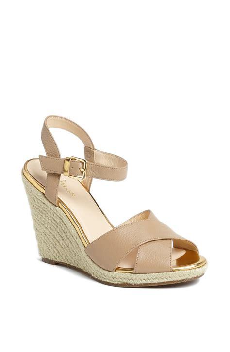 cole haan sandals cole haan hart wedge platform sandal in beige sandstone