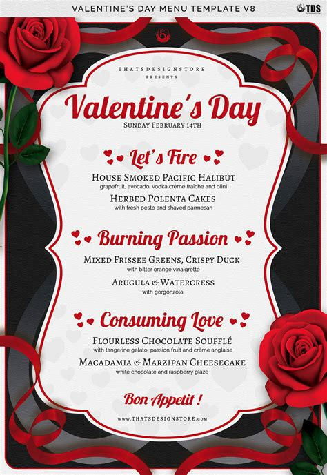 S Day Menu Template Valentines Day Menu Template V8 By Thats Design Store Thehungryjpeg Com