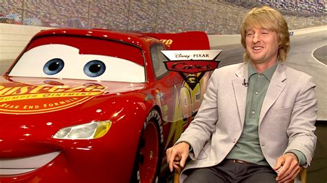 owen wilson cars owen wilson on cars 3 and why he never sits through the