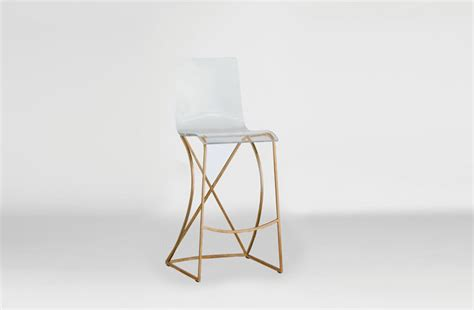 Lucite And Gold Bar Stools by Transparent Acrylic Bar Stool Gold And Lucite Johnson