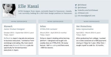 html resume template github github ellekasai resumecards unmaintained a markdown based resume generator it looks great