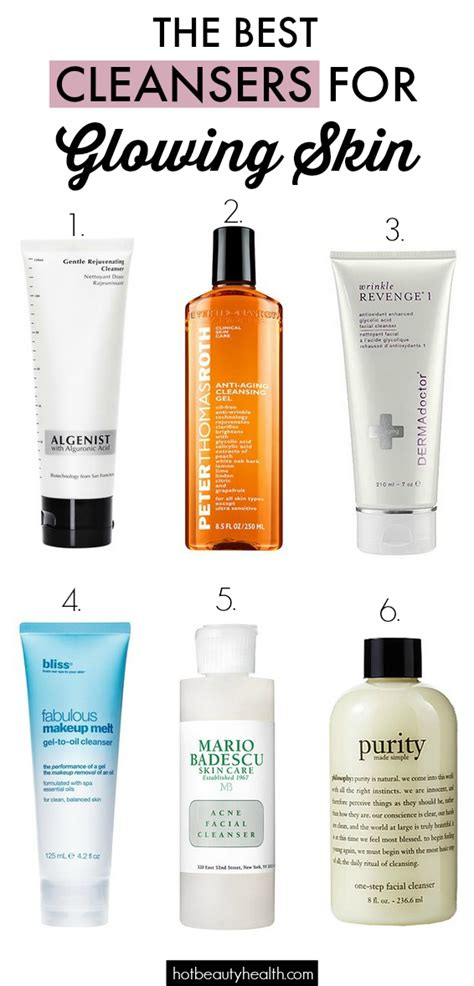 Best Detox For Glowing Skin by The Best Cleansers For Glowing Skin