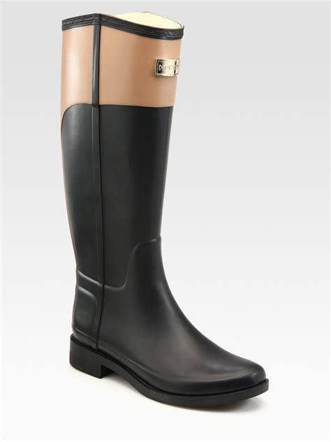 Cece Boot cece two tone rainboots in black lyst