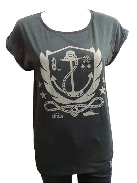 T Shirt Aticus Glow Ln one joblot of 6 atticus black anchor tees size small