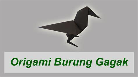 video tutorial membuat origami burung cara membuat origami burung gagak crow youtube