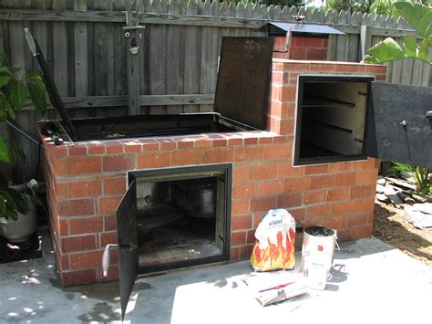 brick barbecue barbecues bricks and backyard