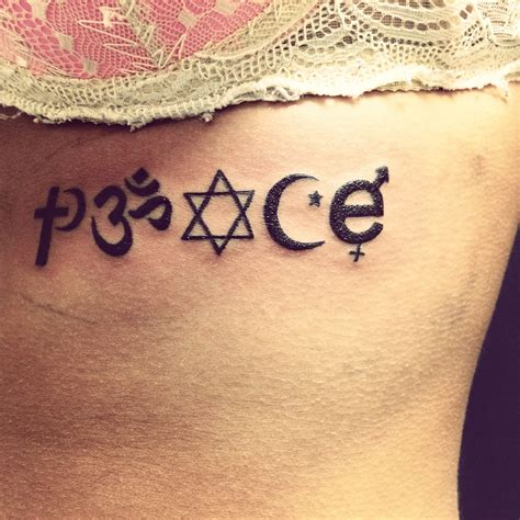 peace tattoo my quot peace quot spelled with symbols that you never find