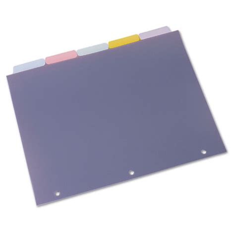 Avery Index Maker 5 Tab Template by Avery 174 Index Maker Clear Label Punched Dividers