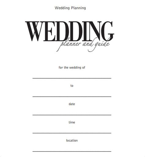 sample wedding timeline templates     sample templates