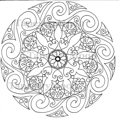 swirl free colouring pages